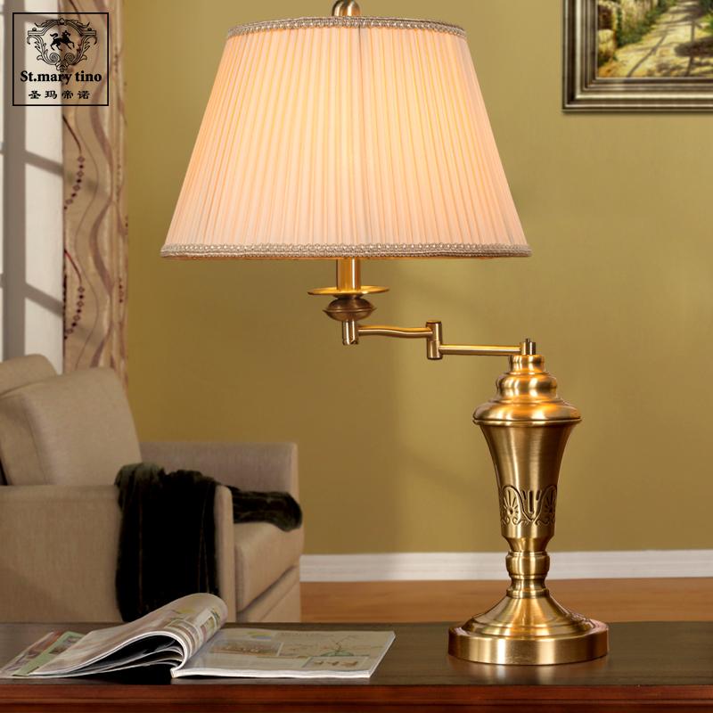 欧式台灯卧室床头灯奢华复古温馨美式台灯现代简约全