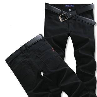 春夏款男士休闲裤直筒裤弹力薄款修身男装长裤子宽松裤加肥加大码
