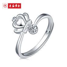 老庙铂金Pt950皇冠珠珠戒指/180100011计价工费140元图片