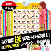 猫贝乐有声挂图幼儿童拼音认知早教玩具宝宝发声语音看图识字卡片