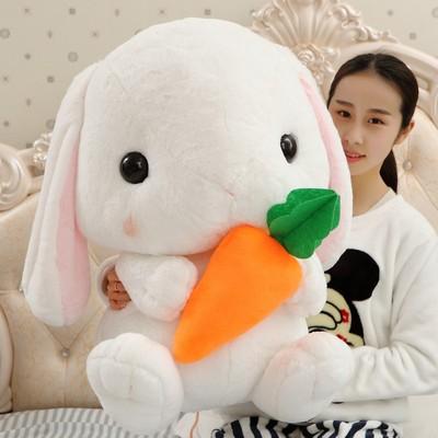 可爱垂耳兔公仔兔子毛绒玩具玩偶长耳兔宝宝安抚抱枕娃娃生日礼物