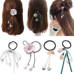 韩国可爱发圈发饰头绳橡皮筋皮套扎头绳扎头发饰品长飘带发绳头饰