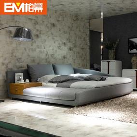 柏幕 日式韩式榻榻米1.8米双人床现代布艺软床可拆洗布艺床 BMC28