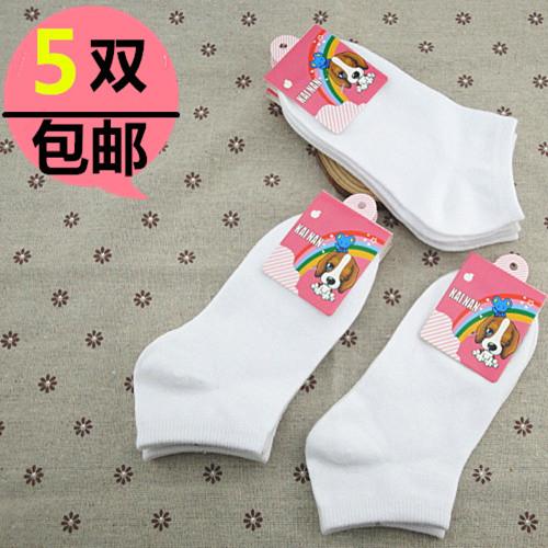 女学生白袜踩扁帆布鞋_踩扁