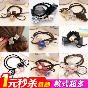 韩国扎头发绳头花发夹皮圈头绳发饰品儿童像橡皮筋发圈加粗潮批发
