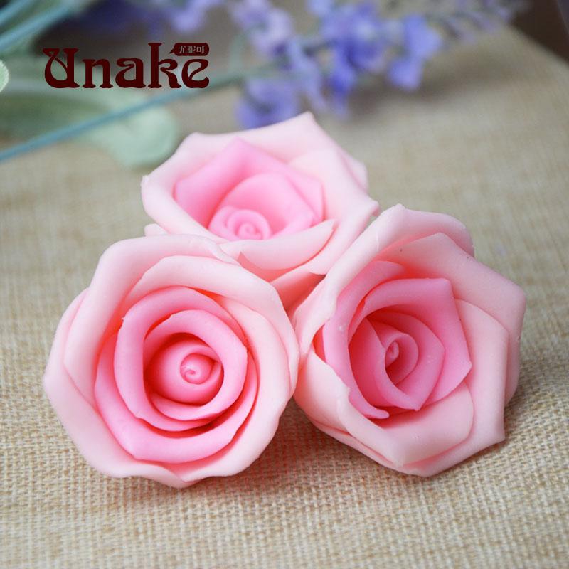 送礼巧克力蛋糕玫瑰花粉色情人装饰 尤昵可