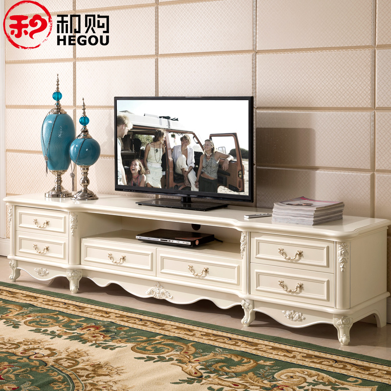 欧式电视柜 实木客厅矮柜卧室地柜简约法式电视