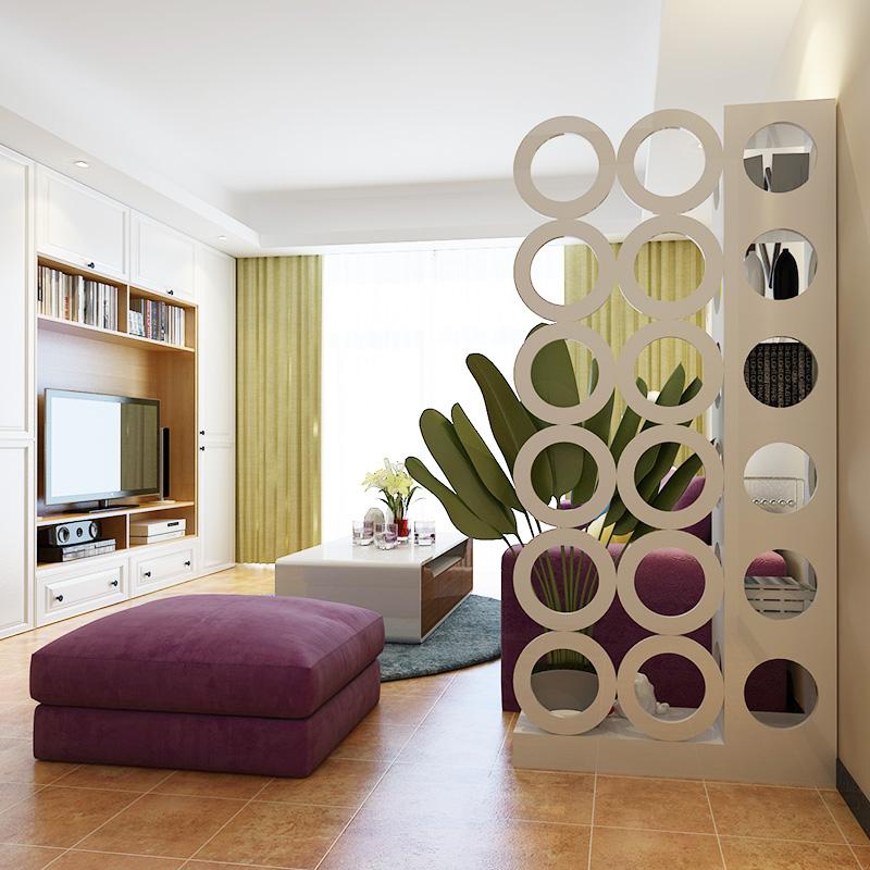 现代简约客厅家具屏风镂空座屏隔断置物架花架时尚柜