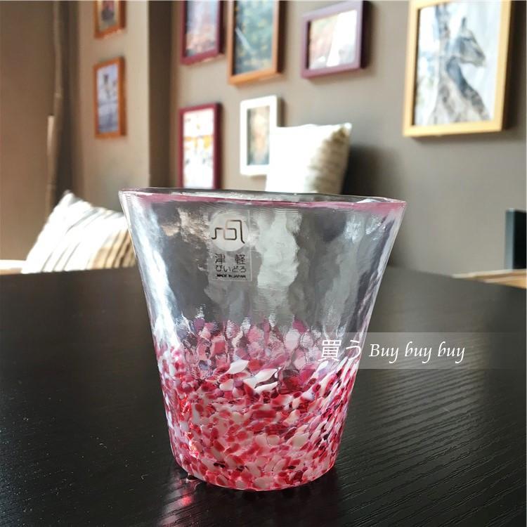 直邮日本进口津轻玻璃彩色渐变水杯手工制作 水彩玻璃杯 茶杯特价