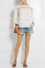 限时打折 法国品牌ISABEL 浪漫唯美客供特制皱棉拼接女上衣衬衣女