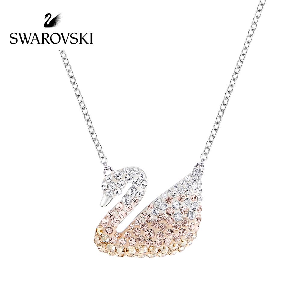 施华洛世奇 Iconic Swan时尚渐变天鹅项链女锁骨链 高档项链女