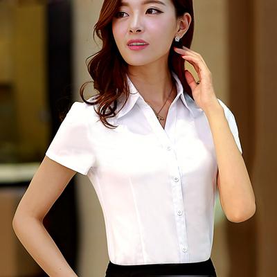 衣阳指新白衬衫女夏短袖职业装工作服正装工装大码半袖衬衣女装ol