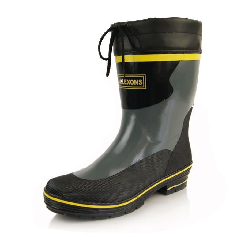 冬季雨鞋男橡胶中筒男士启中时尚防水彩色青年塑胶流行男鞋