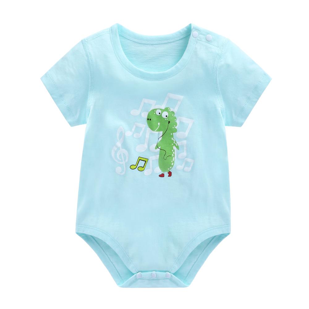 嬰兒爬爬服包屁衣連體三角純棉短袖新生兒夏季衣服寶寶