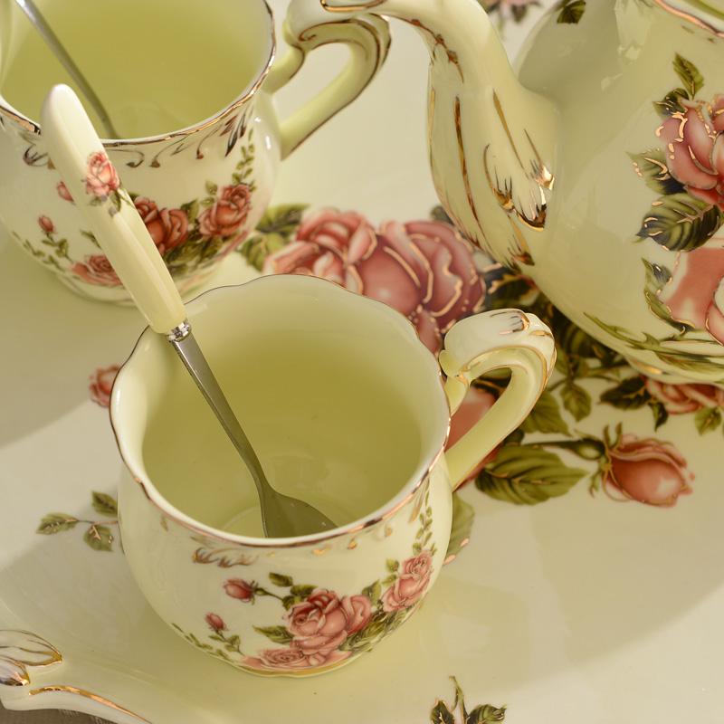 欧式陶瓷咖啡杯具套装英式下午茶红茶具咖啡杯带托