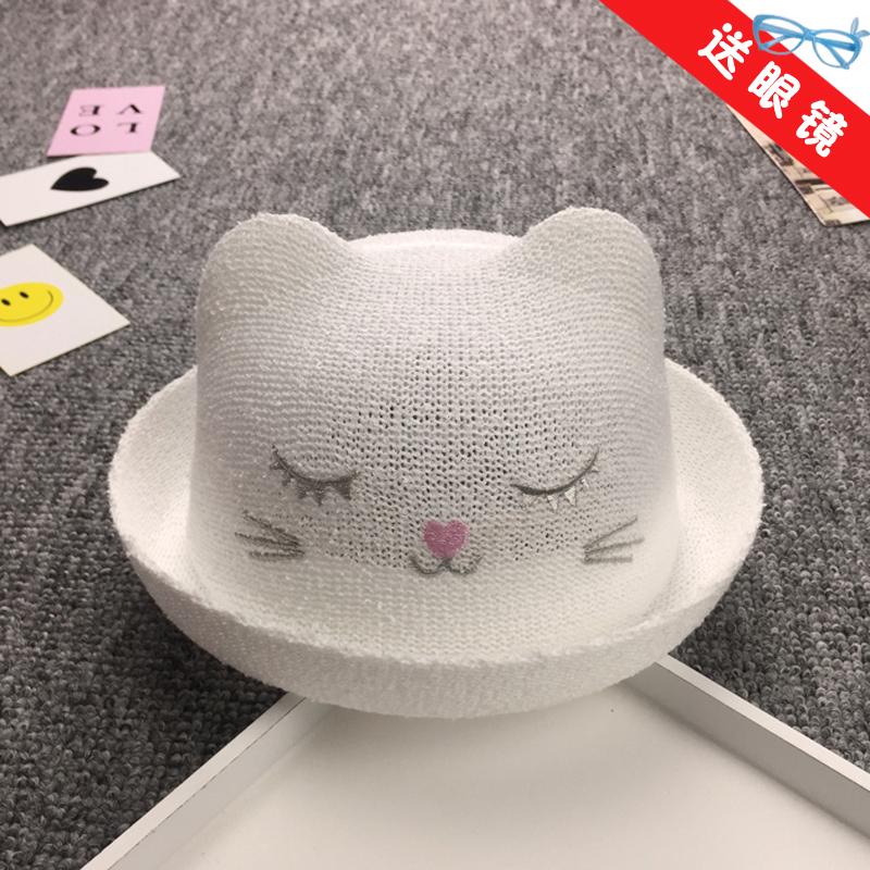 寶寶春秋涼帽男童盆帽韓版潮子女嬰兒遮陽帽帽子草帽