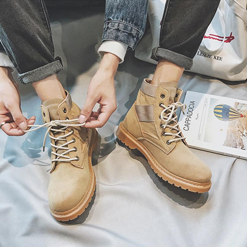 马丁靴男战狼2同款军靴男士加绒短靴高帮鞋韩版百搭靴子男鞋冬季