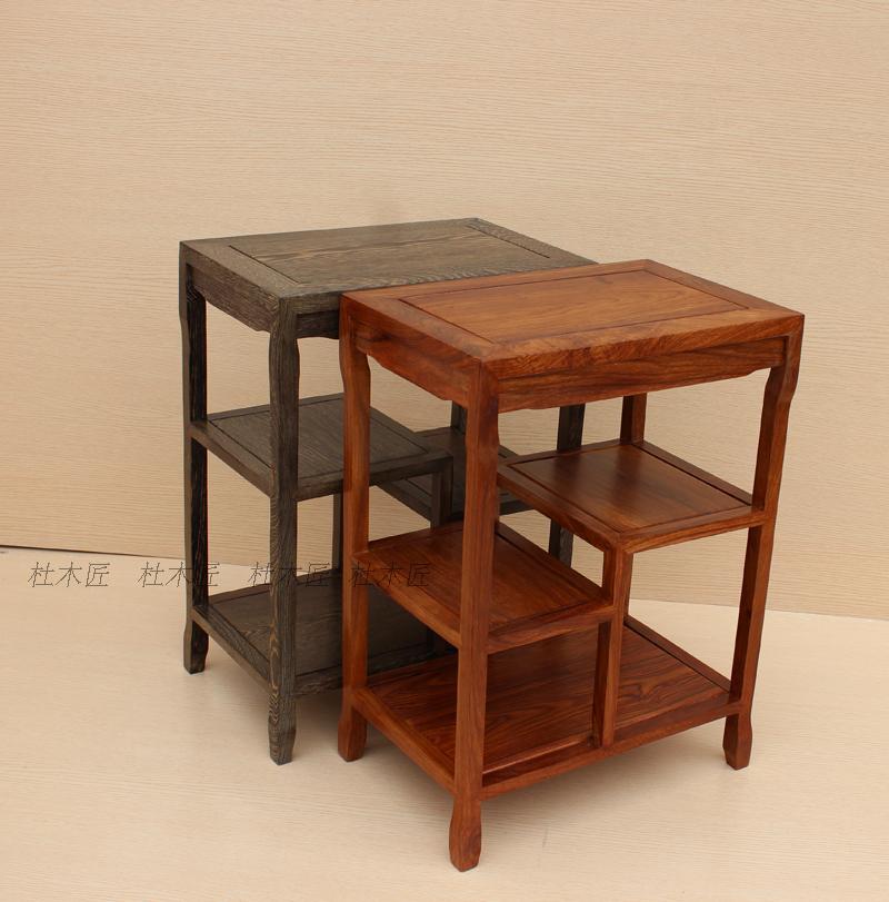 红木边角几鸡翅木小茶几花梨木茶水桌红木茶柜鱼缸架