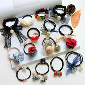韩国蝴蝶结发圈发夹儿童长头绳发绳发箍发饰品皮套头饰头花橡皮筋