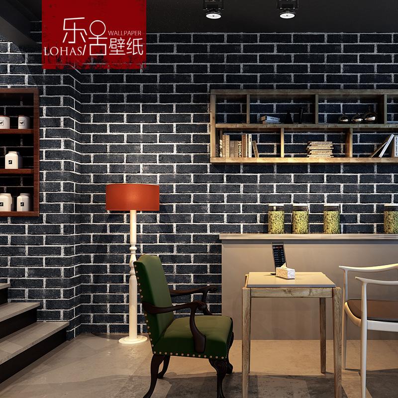 复古砖纹红砖青砖砖头砖块墙纸仿古3d文化砖餐厅酒店服装店壁纸
