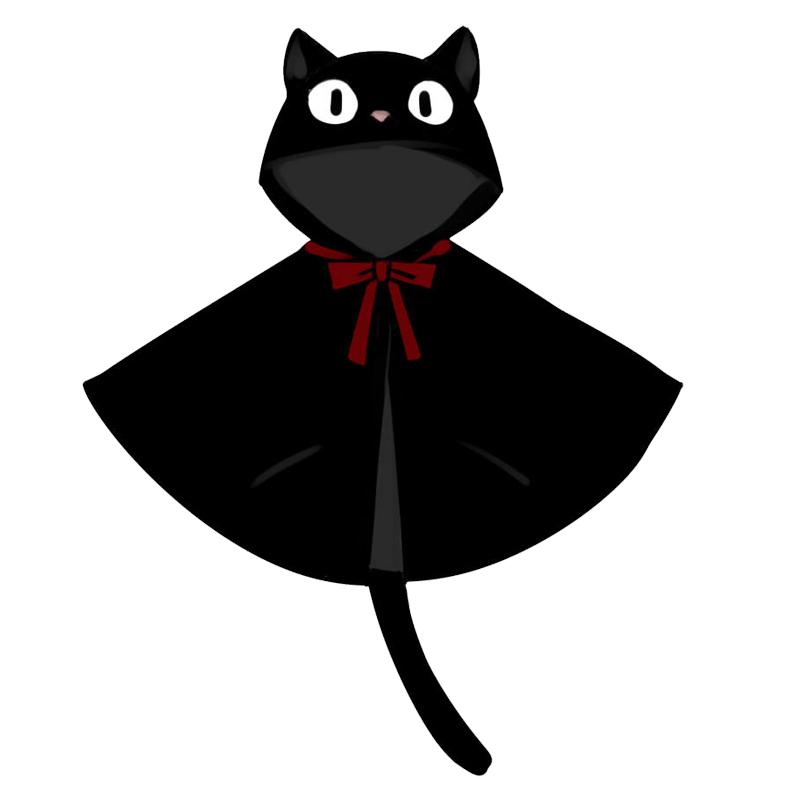 漫踪魔女宅急便cos黑猫吉吉kiki周边呢子斗篷可爱动漫