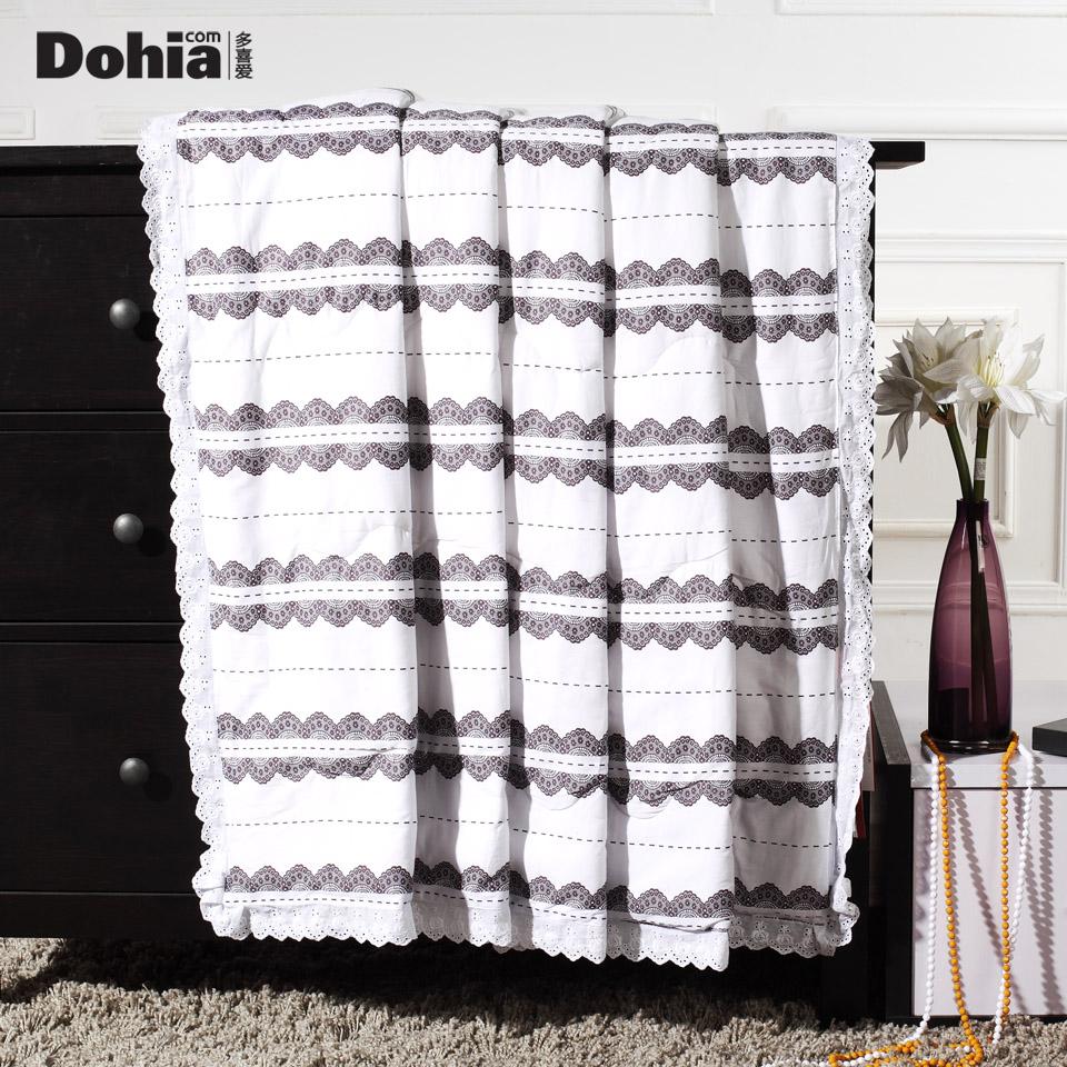 家纺 清怡夏被 情迷蕾丝空调被 单人双人夏凉被化纤 布艺软饰