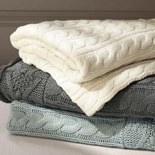 纯棉盖毯针织毯毛毯线毯毛线毯子沙发毯办公室毯子午睡毯毛巾被