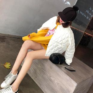 淳小汪羽绒服女轻薄短款时尚韩版百搭2017冬季新款宽松白色外套潮