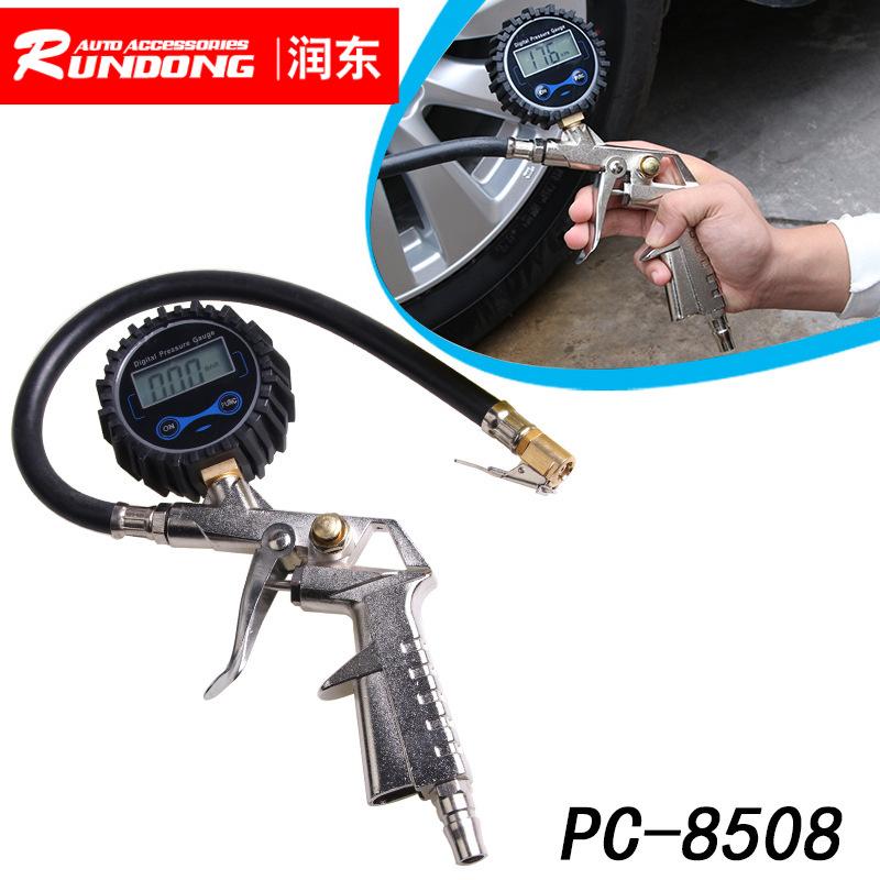 高精度电子胎压计 数显汽车胎压表轮胎充气枪测压表胎压枪气压表