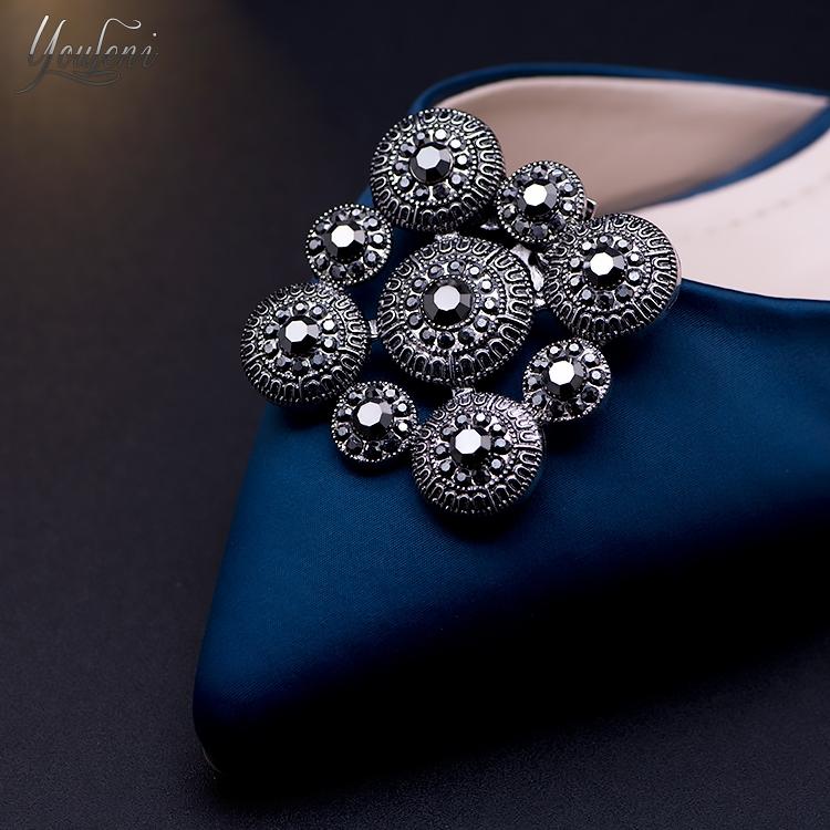 一双价 可拆卸高档女鞋时尚水钻玻璃鞋花扣 流行饰品鞋配饰鞋配件