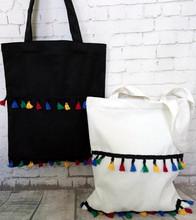 韩国文艺复古流苏布包帆布包单肩女书包环保购物袋子拉链布艺