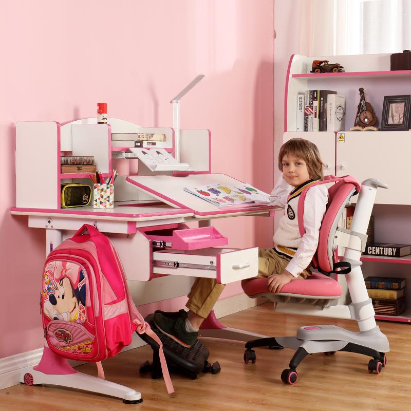 乐仙乐居儿童学习桌可升饺轩童书桌儿童学习桌椅套装儿童写字桌椅