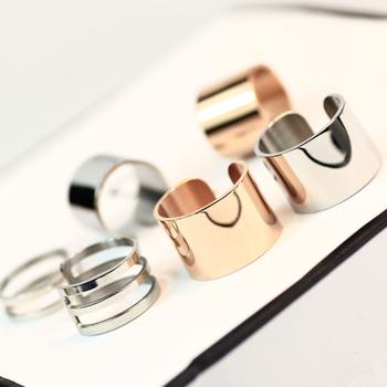 好品质 韩版潮人夸张宽版戒指女关节中食指环尾戒百搭钛钢配饰品
