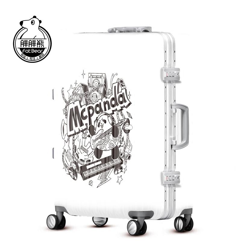 胖胖熊麦克熊猫拉杆箱卡通潮箱万向轮登机箱旅行箱箱包M001