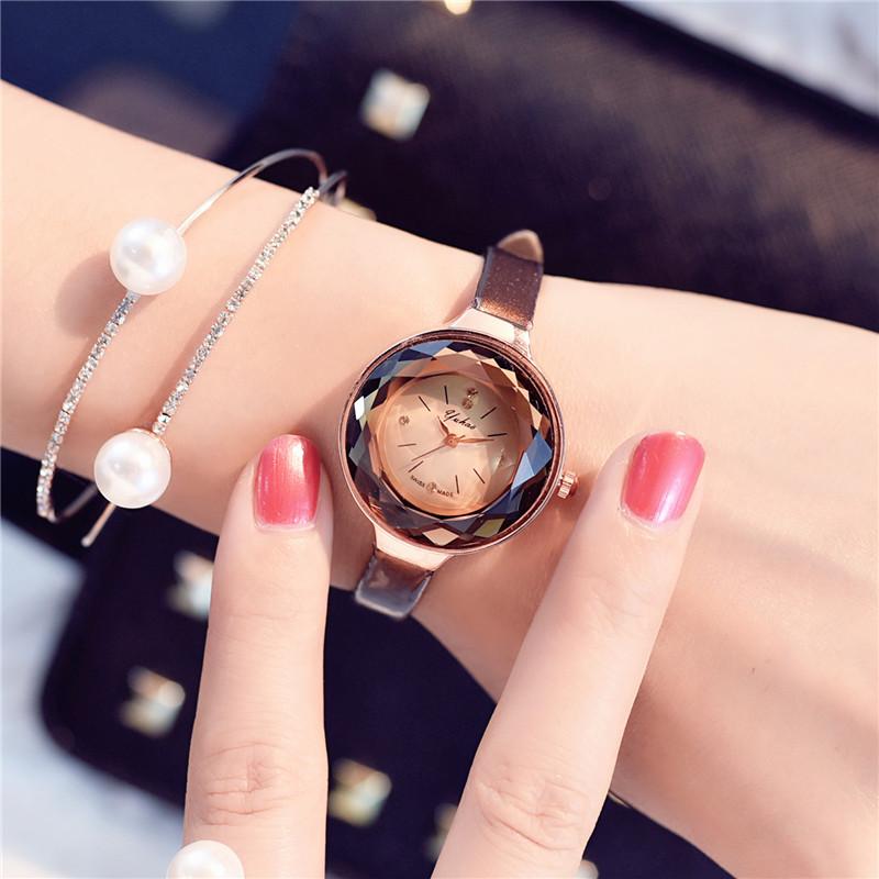 皮带小巧表盘圆形简约时尚细带手表韩国潮流女学生复古