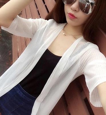 【天天特价】2017夏季薄款网纱防晒衣中长款空调衫开衫外套女大码