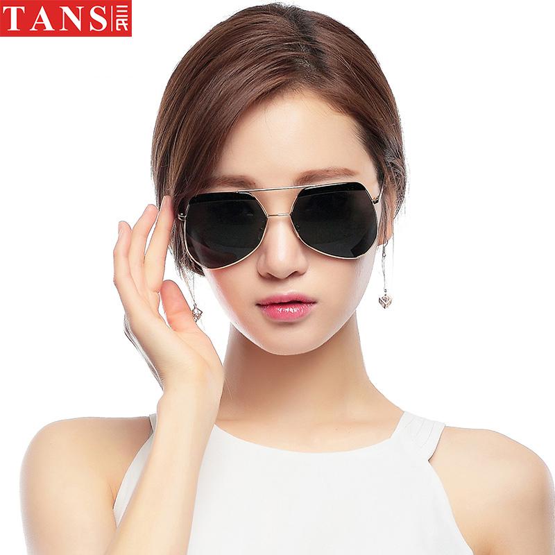 三氏 眼镜太阳镜 女士墨镜2017偏光 太阳镜女时尚情侣蛤蟆镜潮流