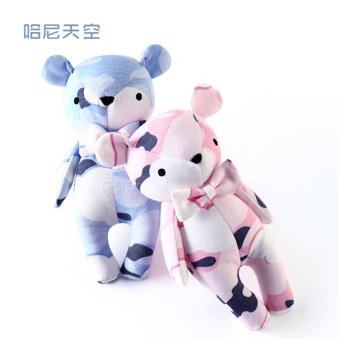 宝宝布艺小熊娃娃新生儿卡通小动物安抚