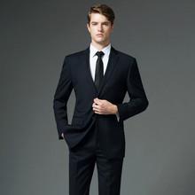 西装 新郎结婚礼服三件套 四季职业装 男士 商务职业正装 修身 西服套装