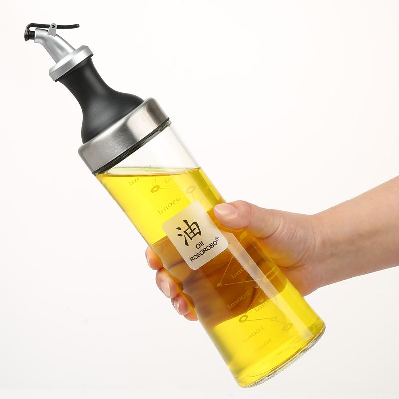调料瓶油瓶防漏油壶醋壶玻璃调味瓶大容量家用酒店厨房油壶酱油瓶