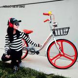 城市通勤车24寸男款女士学生实心胎刹车 摩拜 小黄车 共享单车