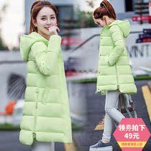 反季冬天中长款棉衣女装潮棉袄 韩国版软妹羽绒棉服学生可爱外套