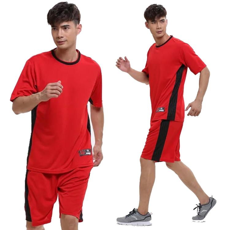 运动套装羽毛球宽松透气短袖短裤跑步速干夏健身男女