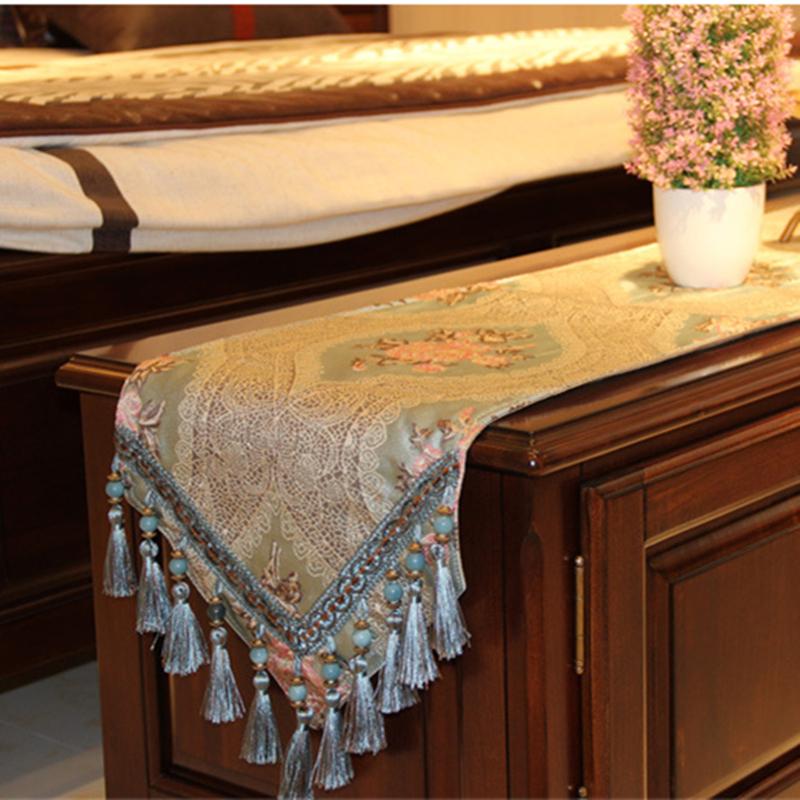 欧式桌旗布艺餐桌装饰布长条现代简约美式电视柜鞋柜桌布茶几桌旗