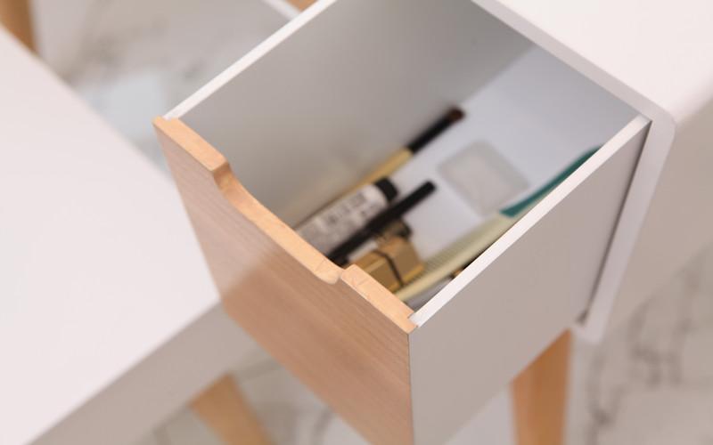 实木 卧室梳妆台北欧现代简约梳妆桌小户型 欧式梳妆台 凡品素居