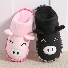 天天特价棉拖鞋女包跟厚底月子冬季可爱居家居情侣毛毛拖鞋男冬天