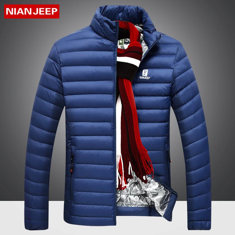 吉普 盾秋冬季羽绒服 新款男装立领短款中青年时尚白鸭绒外套大码