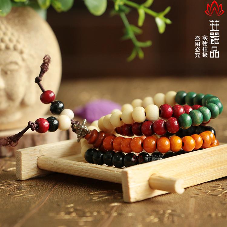 颗佛珠手链 108 彩色 男女通用念珠手串 亏本甩卖 佛教用品