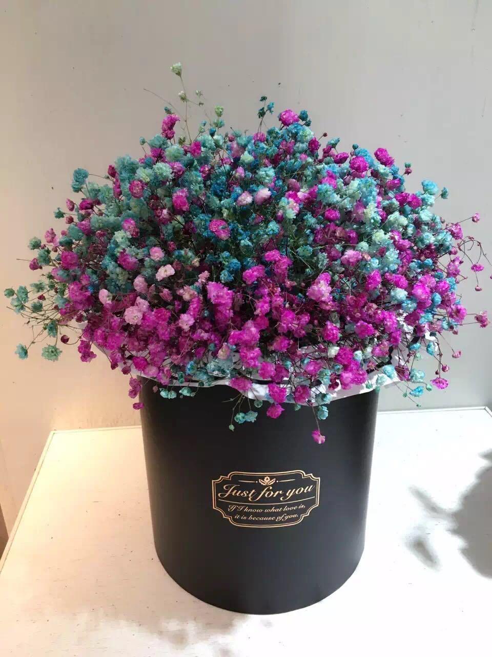 重庆鲜花店同城速递上门欧美风玫瑰约会生日祝福抱抱花桶送花