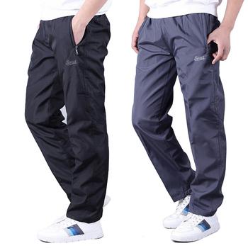 低价夏季薄款涤纶运动裤男长裤直